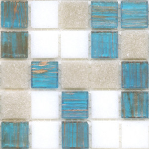 Iceland Blend 0.75 x 0.75 Glass Mosaic Tile