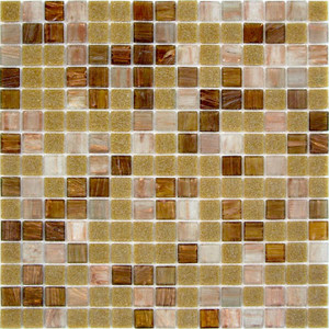 Spicewood Blend 0.75 x 0.75 Glass Mosaic Tile