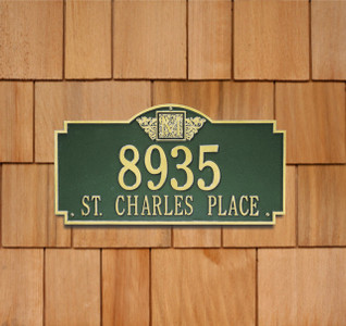 Monogram Wall Address Plaque