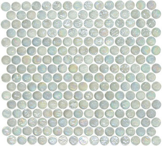 "Glass-Mosaic-backsplash-tile-kitchen-Wall-Bathroom.  Tile applications  Suitable for interior and exterior use, walls, countertops, backsplashes and pool borders.  Dimensions  Tile size: Approx. 3/4"" diameter   Thickness: Approx. 1/4""  Grout joint: Approx. 1/8""  Sq. ft. per sheet: Approx. 1.0 Tile per sheet: 240 Mounting: Mesh-backed"