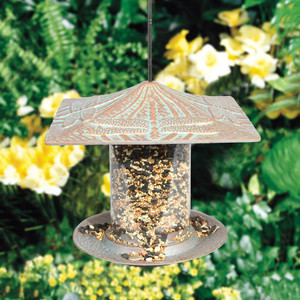 Whitehall Products Dragonfly Tube Bird Feeder