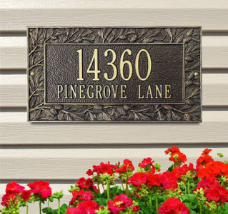 Pinecone Standard Wall Two Line Address Plaque
