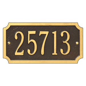 Cut Corner Standard Wall One Line Address Plaque