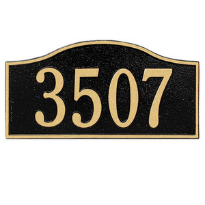 Rolling Hills Standard Wall One Line Address Plaque