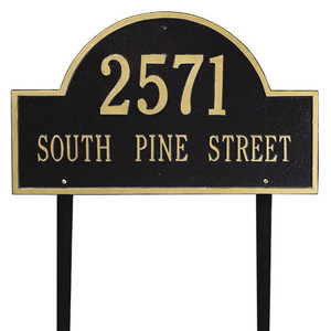 Arch Marker Estate Lawn Two Line Address Plaque
