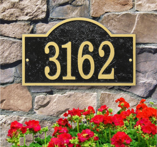 Ships in 4 Days Arch House Numbers Plaque