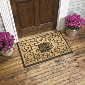 Personalized Coir Medallion Monogram Doormat