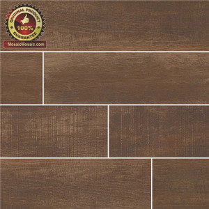 "Capella Java 6"" x 40"" Wood Look Italian Made Porcelain Tile"