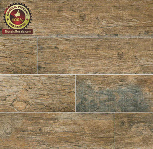 "MS International Ink Jet Wood Series: Redwood Natural 6"" x 36"" Porcelain Tile"