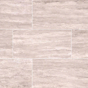 "MS International Pietra: Venata White 12"" x 24"" Porcelain Tile NPIEVENWHI1224P"
