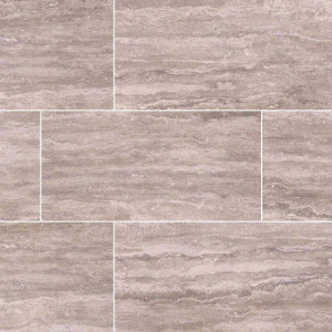 "MS International Pietra: Venata Gray 12"" x 24"" Porcelain Tile NPIEVENGRA1224P"