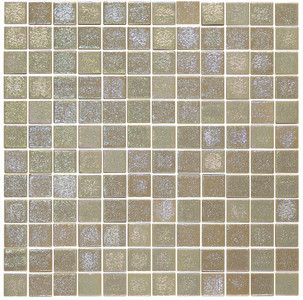 Almond Sway 1 x 1 Glass Mosaic Tile