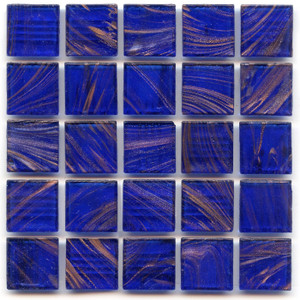 Cobalt 0.75 x 0.75 Glass Mosaic Tile