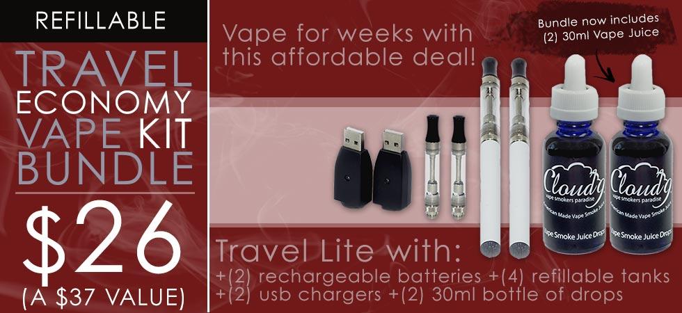 Vape for weeks with our economy vape kit bundle - $26