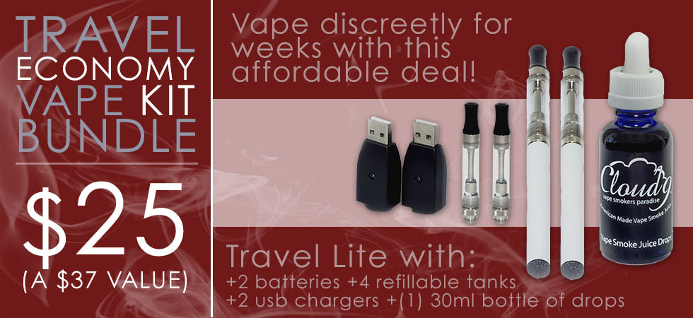 $25 | Travel Economy Vape Kit Bundle