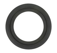 "10 3/4"" ID Modified Full Face Black Neoprene 50 Durometer Manway Gasket"