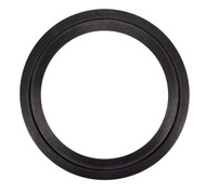 "19 7/8"" ID Black EPDM Manway Gasket with Extended Seal Leg"