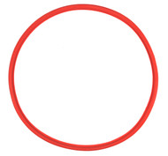"13 3/4"" ID Red Silicone Manway Gasket"