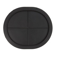 "21 7/8"" X 25 5/8"" ID Black Neoprene Full Face Manway Gasket"