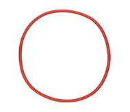 "22 1/2"" ID Red Natural Rubber Manway Gasket"