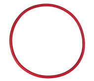 "15 3/4"" ID Red Natural Rubber Manway Gasket"