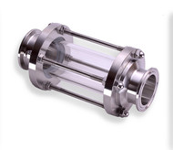 """2.5"""" 304 Stainless Steel body with a glass tube"""
