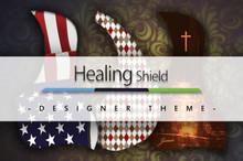 Healing Shield Acoustic Guitar Pickguard - Designer Theme