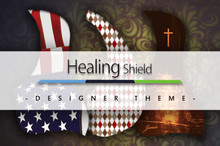 Healing Shield Acoustic Guitar Pickguard - Designer Theme