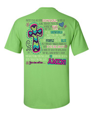 Showgirl Prayer Tee - Lime