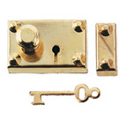 Brass Americana Lock/Key 1set/pk
