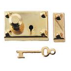 Brass Americana Lock/Key 1set/pk