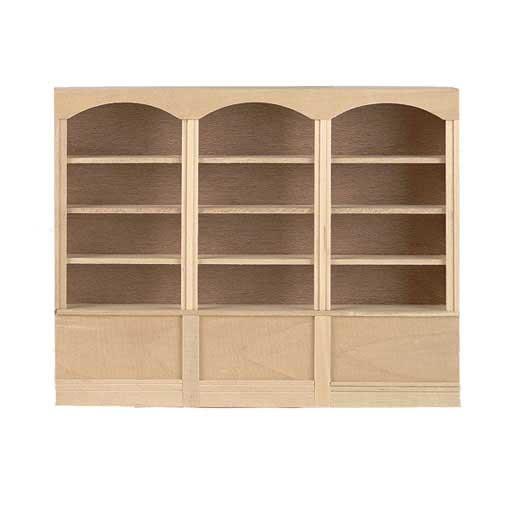 Dollhouse Furniture Wood 3Unit 4 Shelf Dollhouse Bookcase