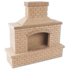 Dollhouse Fireplaces Wood Dollhouse Brick Outdoor Fireplace