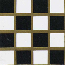 Dollhouse Flooring Black & White Checker Dollhouse Vinyl Tile Floor