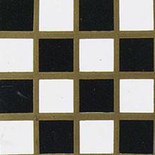 Dollhouse Flooring Black & White Checker Dollhouse Vinyl Tile Floor