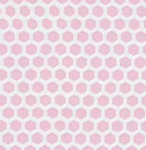 Pink Small Hex Vinyl Dollhouse Tile Floor