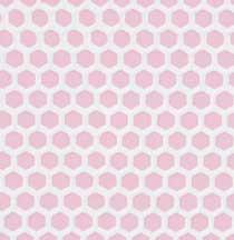 Pink Small Hex Vinyl Dollhouse Tile Floor