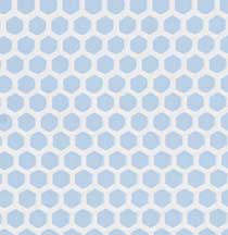 Blue Small Hex Vinyl Dollhouse Tile Floor