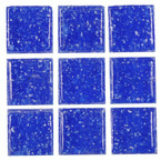 Dollhouse Dark Blue Glass Mosaic Sheet