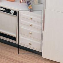 """Dollhouse Kitchen Furniture 2.0"""" Base 4drw Kit Unfinished"""