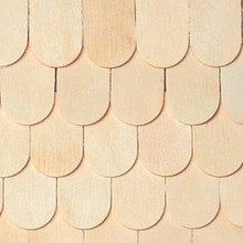 Dollhouse Shingles Fishscale Shingle 100pc/pkg