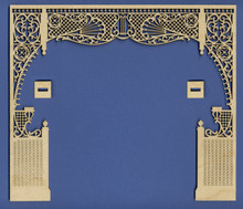 Victorian Dollhouse Room Divider Fretwork