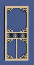 Victorian Dollhouse Screen Door