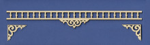Adjustable Victorian Dollhouse Spandrel Fretwork