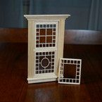 Victorian Dollhouse Open Grid Design - Window Mullion