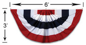 Veterans Flag Depot - 3x6 Foot Pleated Full Fan Nylon Z16117