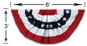Veterans Flag Depot - USA Flags and Flagpoles - MADE IN THE USA - 3x6 Foot Stars and Stripes Pleated Full Fan Z16105