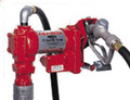 "Details:  Explosion-proof UL/cUL listed 1/4 HP motor with permanent magnet and ball bearings                             Heavy-duty switch, thermal overload protection and junction box  Heavy-duty battery cable                   Iron rotor                   Automatic bypass valve                   Built-in strainer                   12' (3.7m) hose with static ground wire                   Manual nozzle with nozzle boot that protects against dirt and contamination                   2"" threaded base for tank openings                   Corrosion-Proof adjustable section pipe                   Machined carbon vanes                   Pump may be padlocked                   No foot valve required                                     Rain proof                                   Options:                 Series 800C meter in gallons/liters                   Automatic nozzle                   Series 2400C, 1/4 HP, 24 Volt DC 10 Amp motor"