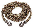 "25' X 3/8"" CHAIN WITH GRAB HOOKS, GRADE 70"