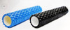 Foam roller with large knobs for yoga or stretching or exercise.